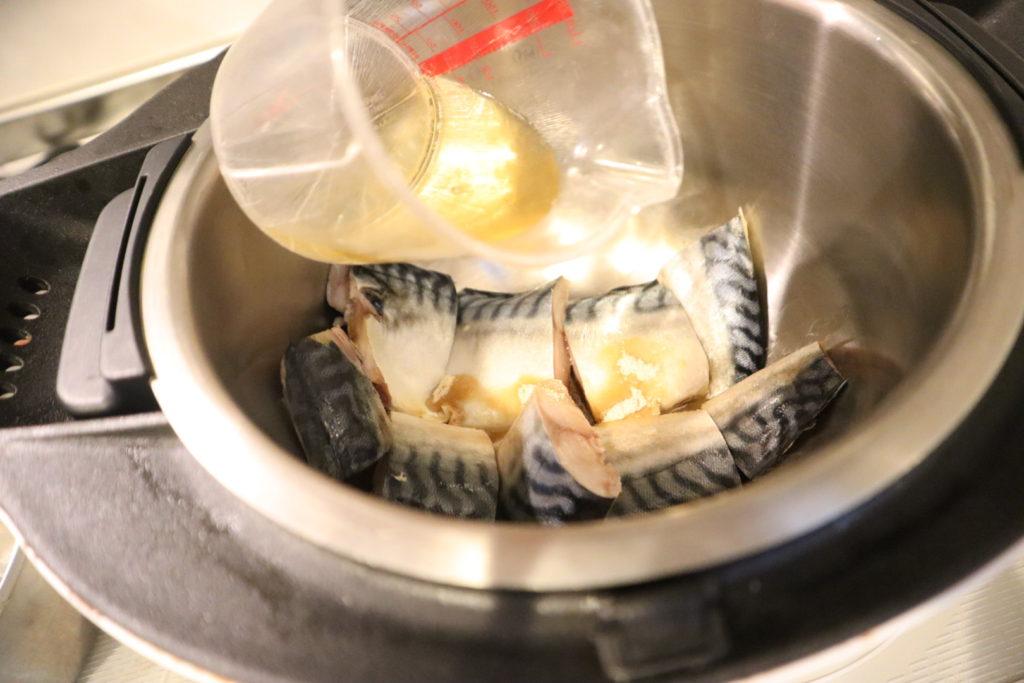 サバの味噌煮を作りました